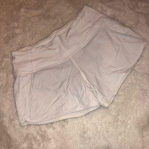 White Lulu Lemon Shorts
